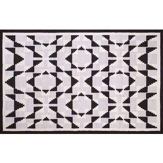 Geomertic Navajo Style Wool Rug - 10′ × 14′