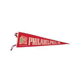 Philadelphia PA Betsy Ross House Felt Flag