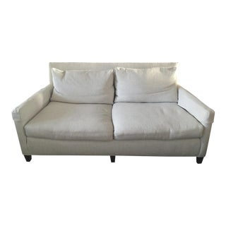 Lee Industries White Apartment Sofa