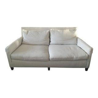 Lee Industries White Apartment Sofa
