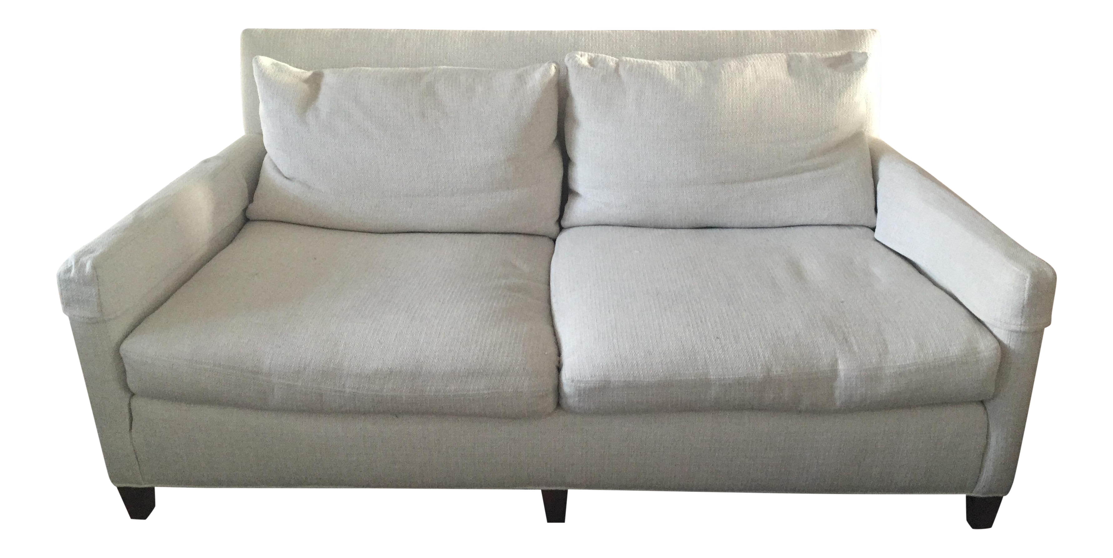 Lee Industries White Apartment Sofa   Image 1 Of 4