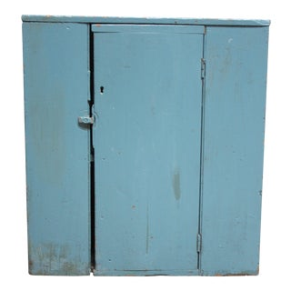 Blue Primitive Shaker Jelly Cupboard