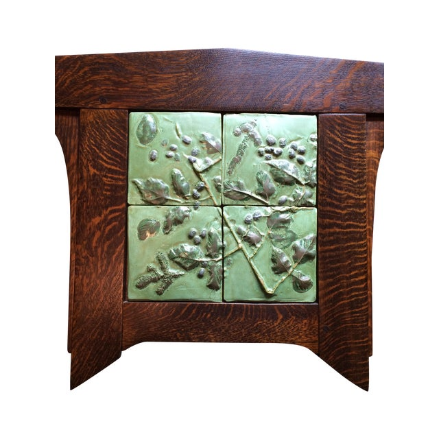 Contemporary Arts And Crafts Ceramic Framed Tile - Image 1 of 6