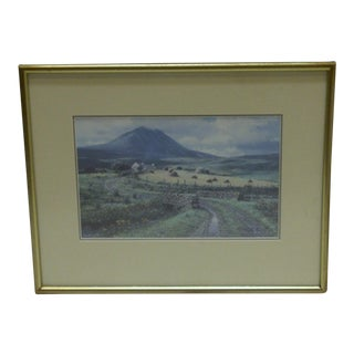 """Limited Signed Numbered (96/850) Print """"The Stone Bridge Road"""" by Peter Ellenshane, 1971"""