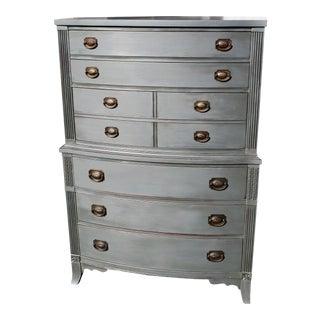 Vintage Slate Grey Painted Dresser