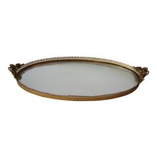 Gold Mirror Vanity Tray