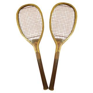 Vintage Pastime Tennis Rackets - Pair