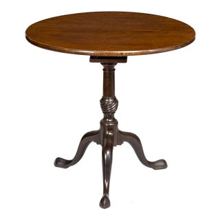 Mahogany Tilt-Top Table with Birdcage & Spiral Urn