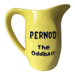 Vintage French Yellow Pernod Pitcher