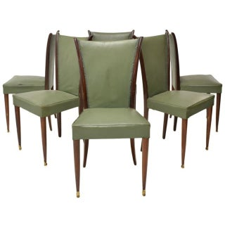 Italian Borsani Rosewood Dining Chairs - Set of 6