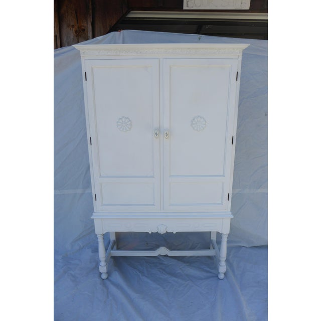 Antique White Painted Cabinet - Image 2 of 8
