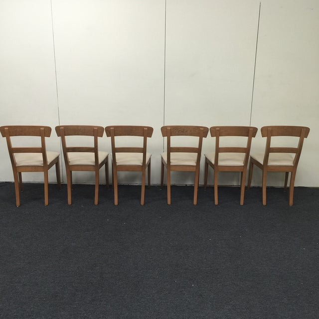 Image of Biedermeier Style Oak Dining Chairs - Set of 6