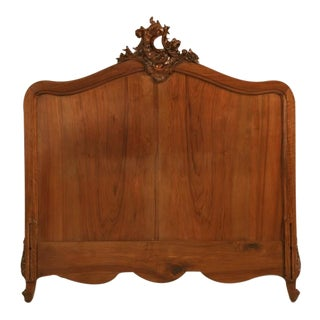 Opulent Antique French Rococo/Louis XV Walnut Headboard, Frame or ???