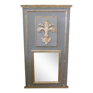 French Fleur d'Lis Trumeau Mirror