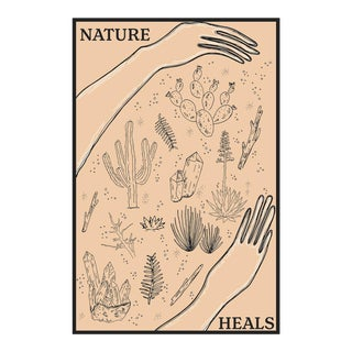 """Nature Heals"" Original Framed Illustration"