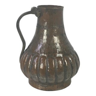 Antique Hammered Copper Pitcher