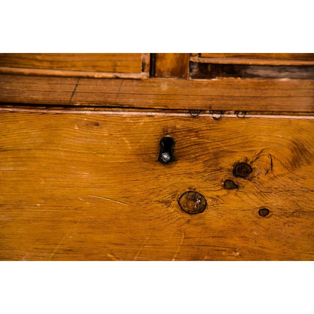 Antique Scrubbed Pine Linen Press Cabinet - Image 9 of 10