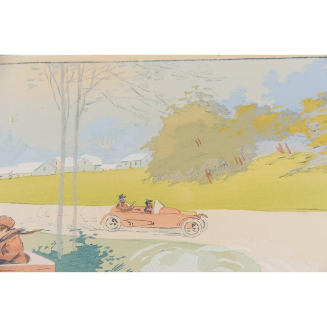 """1913 Original French Art Deco """"Dedalia Car Race"""" Poster - Image 7 of 8"""