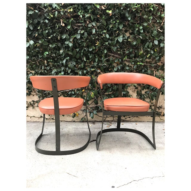 Grapefruit Pink Chairs - A Pair - Image 7 of 10