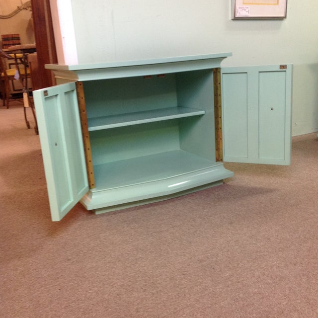 Vintage Painted Wood Side Tables - a Pair - Image 3 of 8