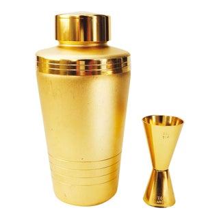 Vintage Mirro Gold Aluminum Cocktail Shaker Set