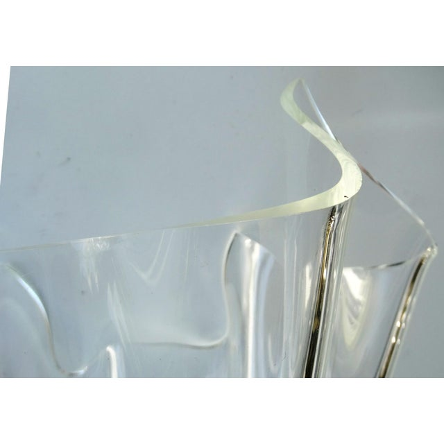 Mid-Century Modern Lucite Handkerchief Bowl - Image 8 of 9