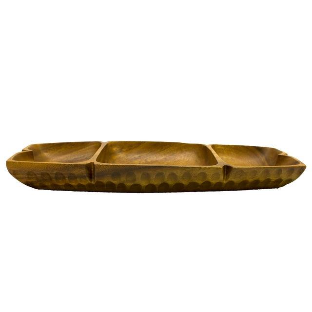 Vintage Monkey-Pod Wood Tray - Image 3 of 4