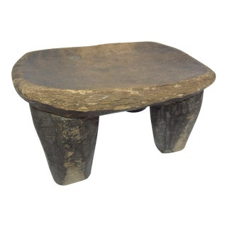 Primitive Carved Wood Stool