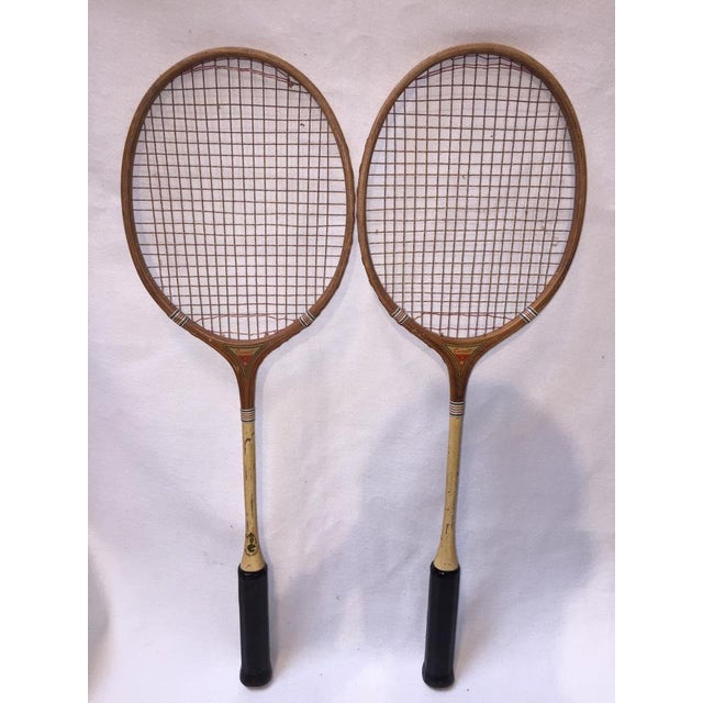 Vintage Wood Badminton Rackets - a Pair - Image 2 of 5
