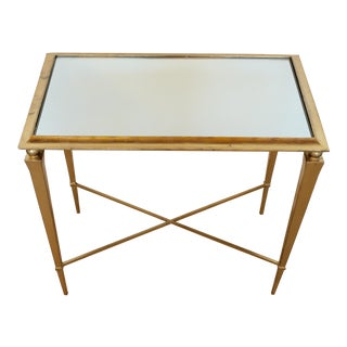 Gold Leaf Mirrored Side Table