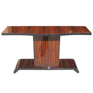 Beautiful French Art Deco Macassar Ebony Console Table Circa 1940s.