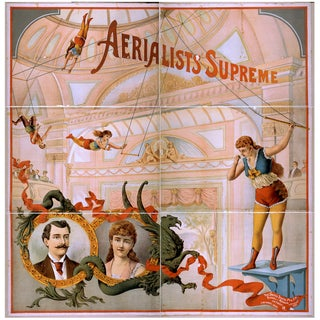 Aerialists Supreme Advertisement Print, 1800's