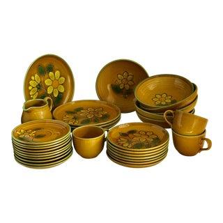 Mid-Century Sunflower Dishware - Set of 31