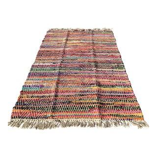 Colorful Rag Rug - 3′ × 5′