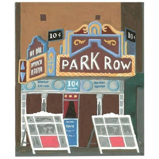 "Witold Gordon Gouache ""Park Row Theater - Vanity Fair"""