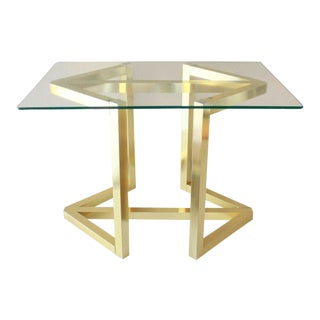 Geometric Gold  Accent Table