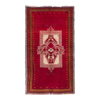 """SHIRAZ QASHQAI Vintage Persian Rug, 3'8"""" x 6'5"""" feet"""