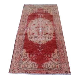 "Decorative Turkish Handmade Rug -- 3'1"" X 6'1"""
