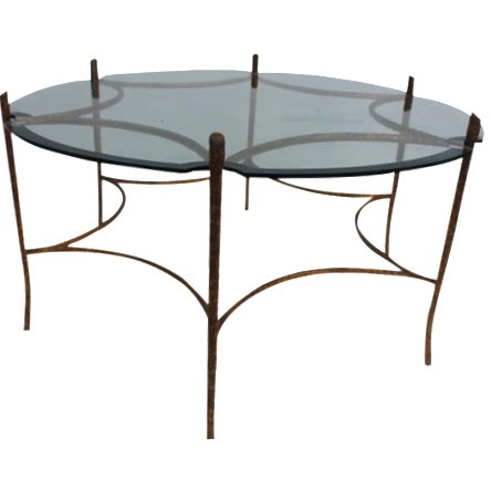 Italian Solid Brass Faux-Bois Base Coffee Table - Image 1 of 10