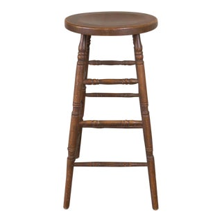 Vintage Wooden Bar Stool