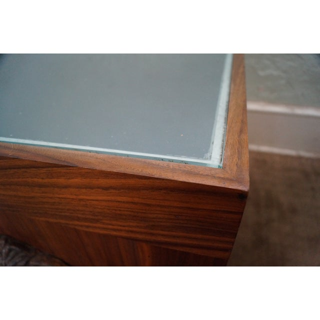 Solid Walnut Cube End Tables - A Pair - Image 10 of 10