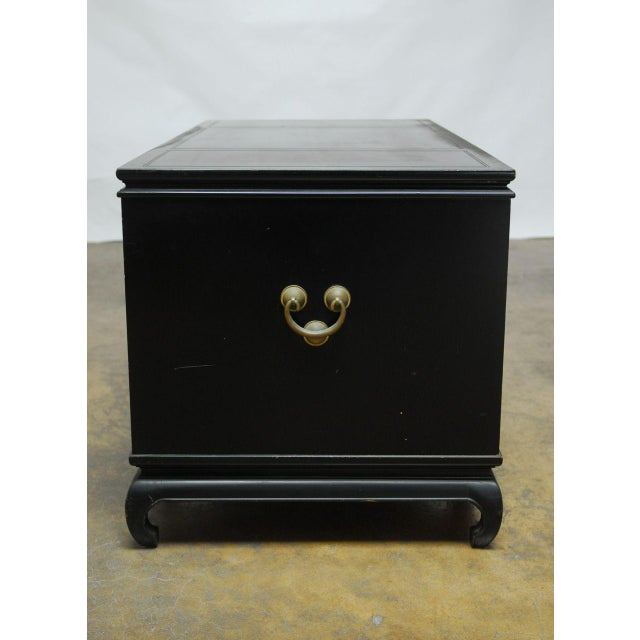 Mid-Century James Mont Style Asian Lacquered Desk - Image 8 of 9