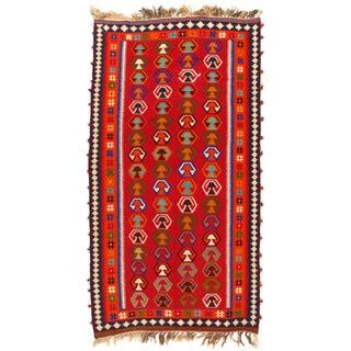 "Vintage Persian Kilim Rug - 5' X 8'10"""