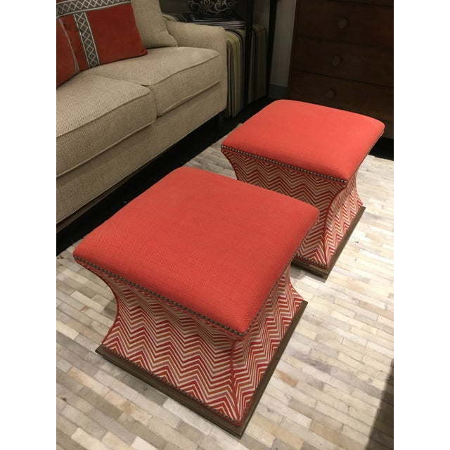 Wesley Hall Comcavo Ottomans - a Pair - Image 3 of 8