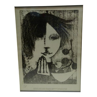 "Limited Numbered (1563/1700) Print from Uruguay - ""Faces"", 1966"