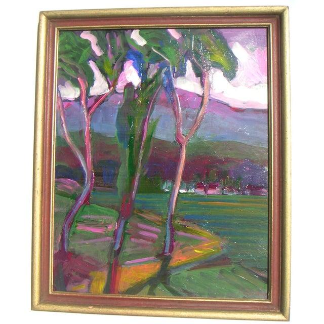 Guzman California Modernist Painting - Image 1 of 4