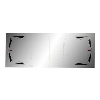 Black & Red Triangles Mirrors - A Pair