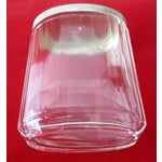 Image of Asprey Glass Jar With Sterling Silver Top