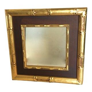 Gold Gild Bamboo Mirror