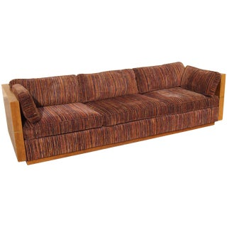 Modern Sofa With Brass Bands Sides and Back